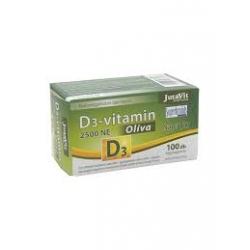 JutaVit Vitaminas D3 2500NE (62,5 μg) Alyvuogių 100kaps