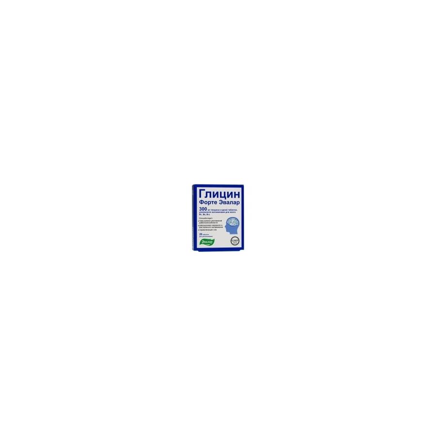 GLICIN FORTE su vitaminais B1, B6 ir B12 N20 (Evalar)