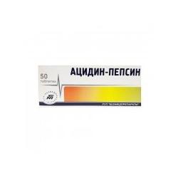 Acidin-Pepsin 0,25g tab.N50 Maisto papildas virškinimui