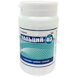 Kalcis D3 (magnis/ cinkas/ selenas), 60 tablečių po 0,7 g
