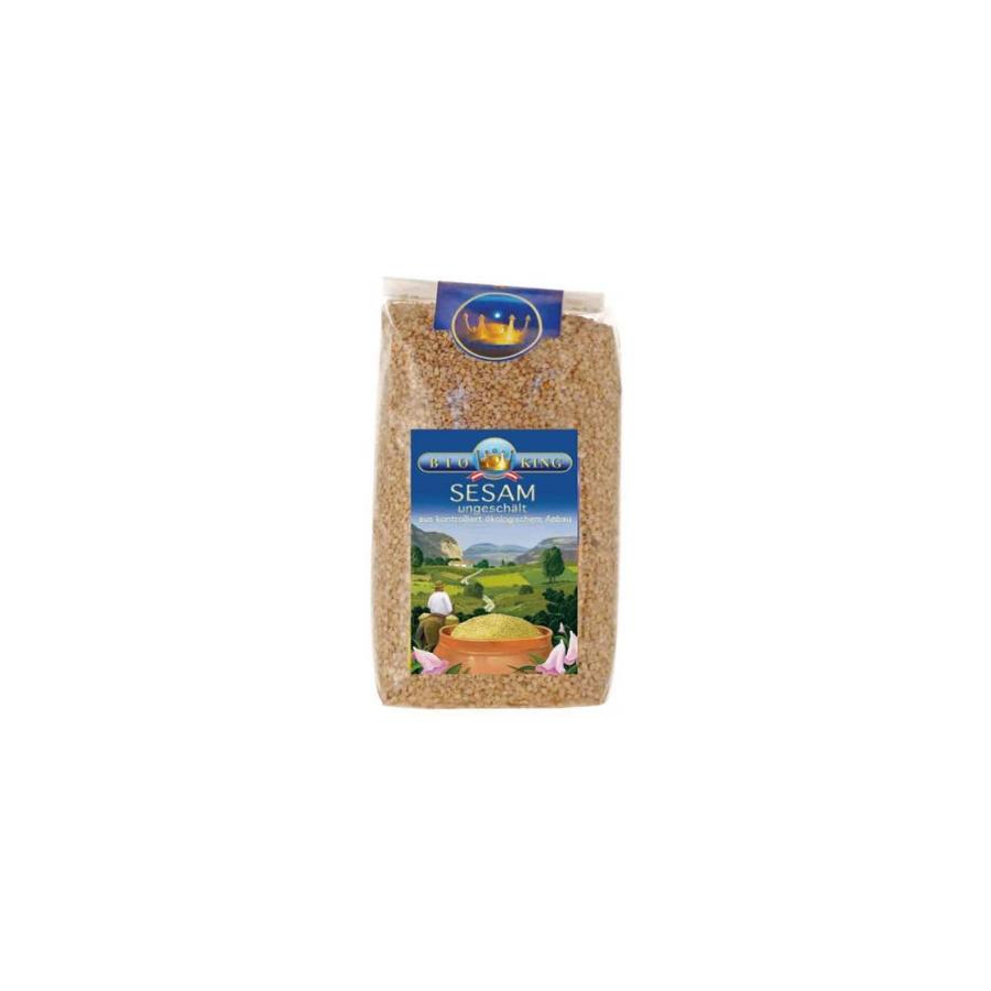 Sezamų sėklos su luobele, ekologiškos (500 g)