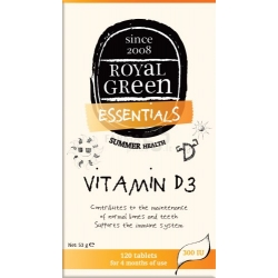 ROYAL GREEN Vitaminas D3 300 IU N120