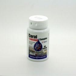 Koralų kalcis su vitaminu D3 60kaps